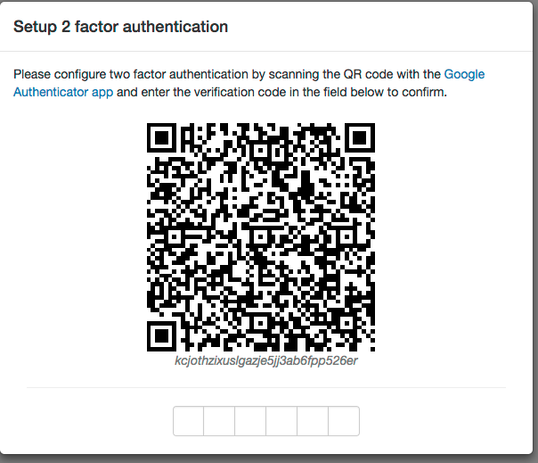 two-factor authentication activation