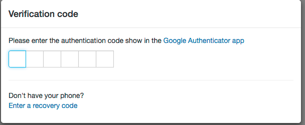two-factor authentication configured