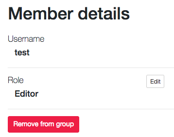 Remove member from group
